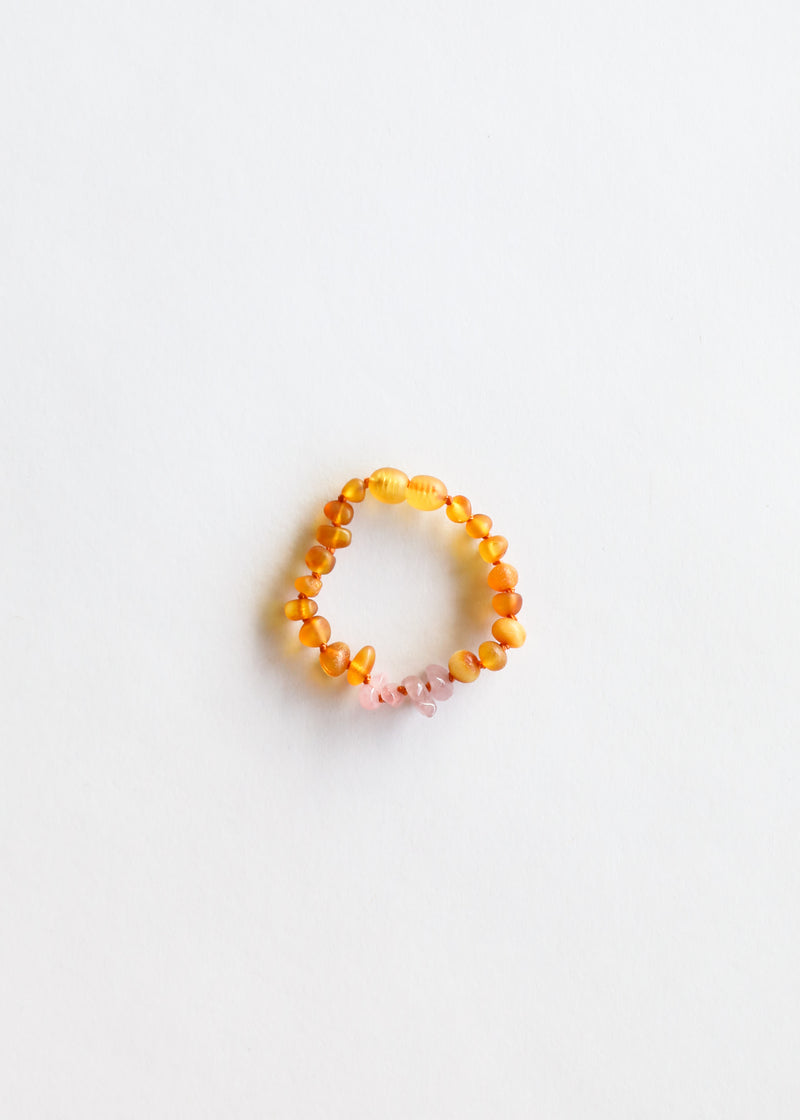 Raw Honey Amber + Raw Rose Quartz || Kids