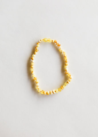 Raw Honey Amber + Pearl Halo || Necklace