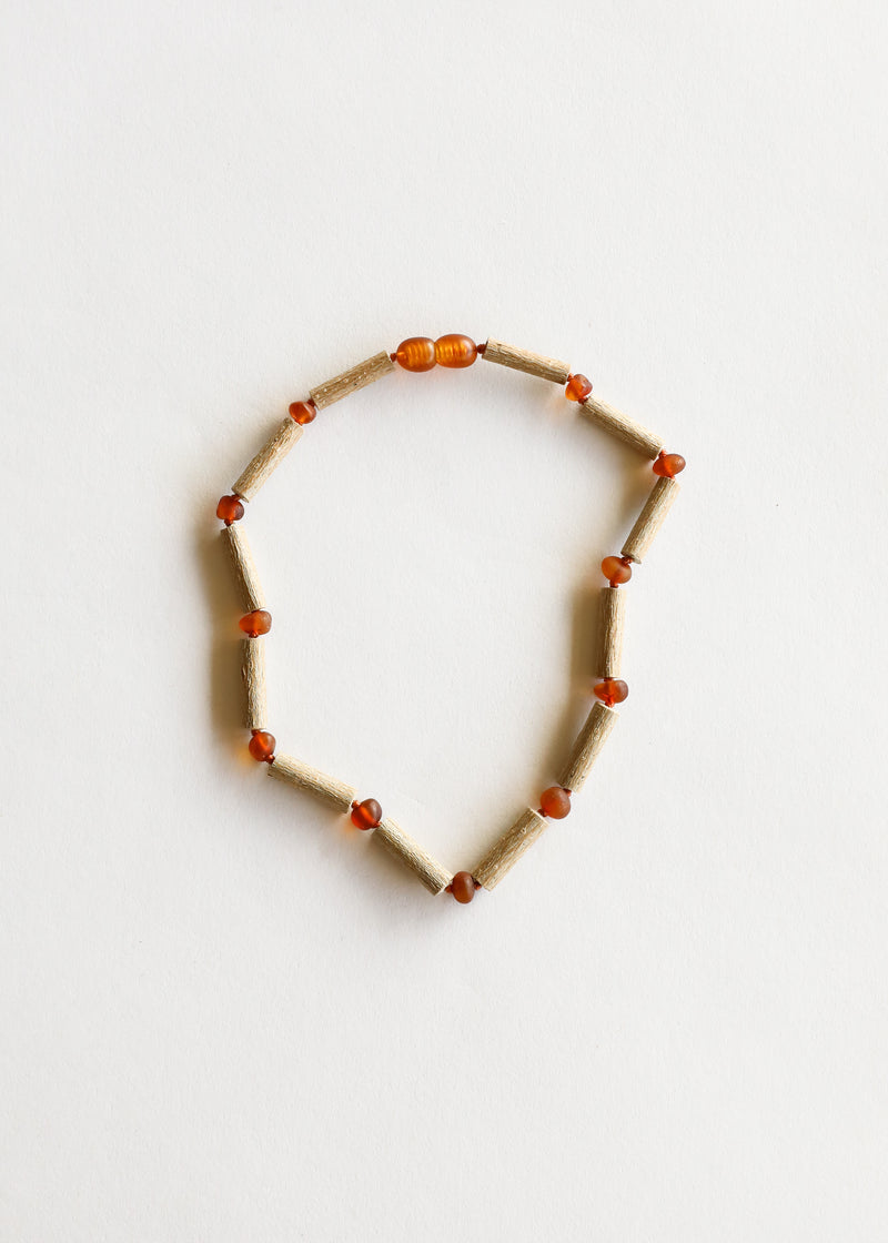 Hazelwood + Raw Cognac Amber Necklace