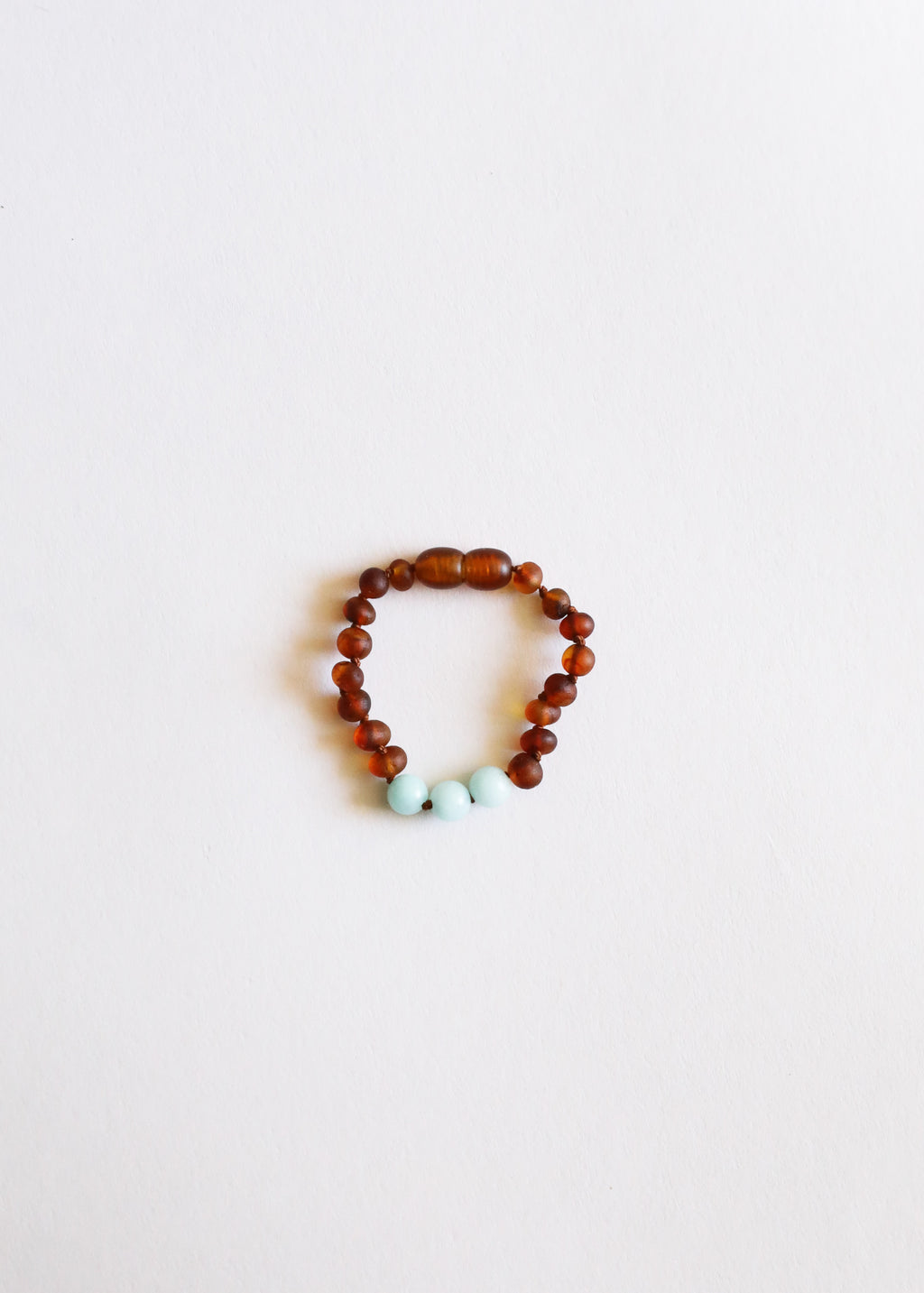 Raw Cognac Amber + Amazonite || Anklet or Bracelet