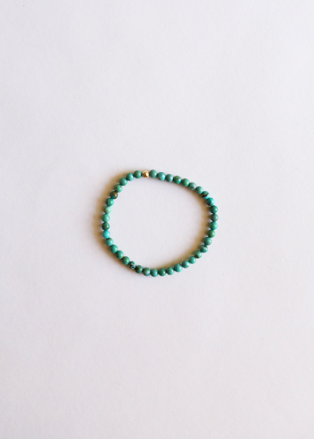 Natural Turquoise + 14k Gold || Adult Bracelet