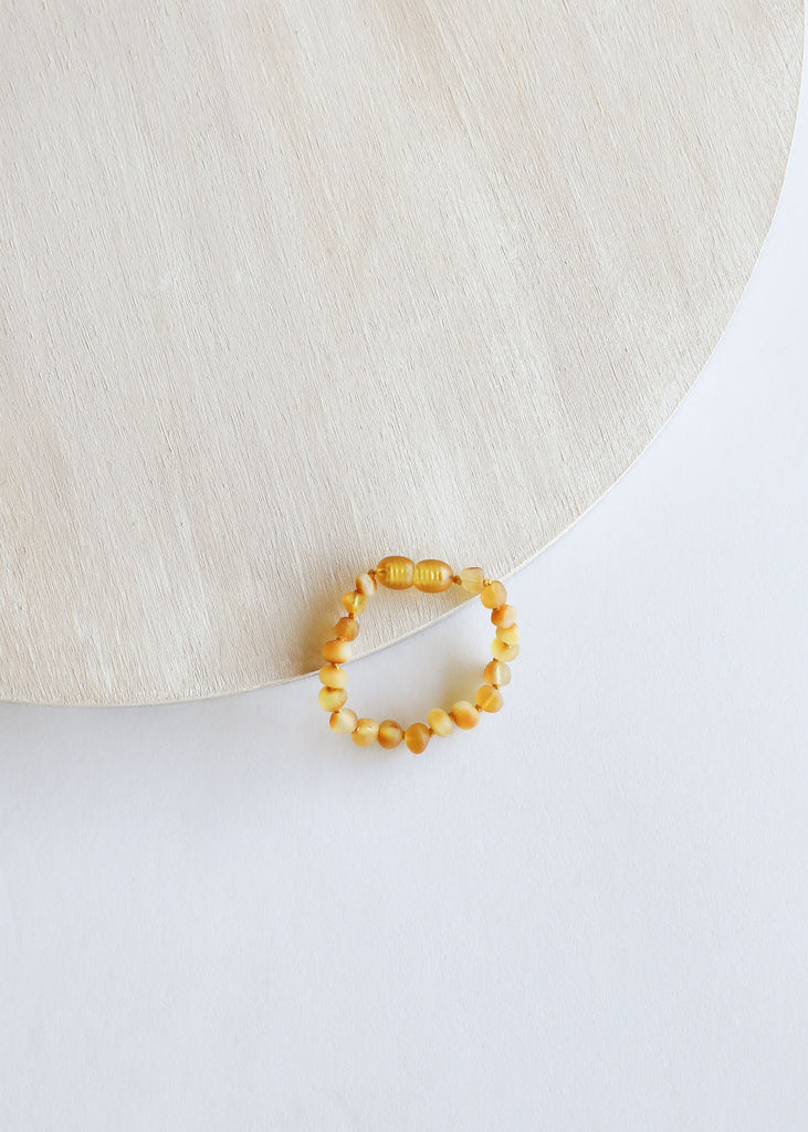 Raw Honey Amber || Anklet or Bracelet