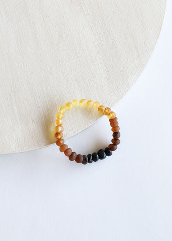 Natural Lava + Gemstone Bracelet