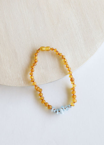 Raw Honey Amber + Turquoise Howlite || Set