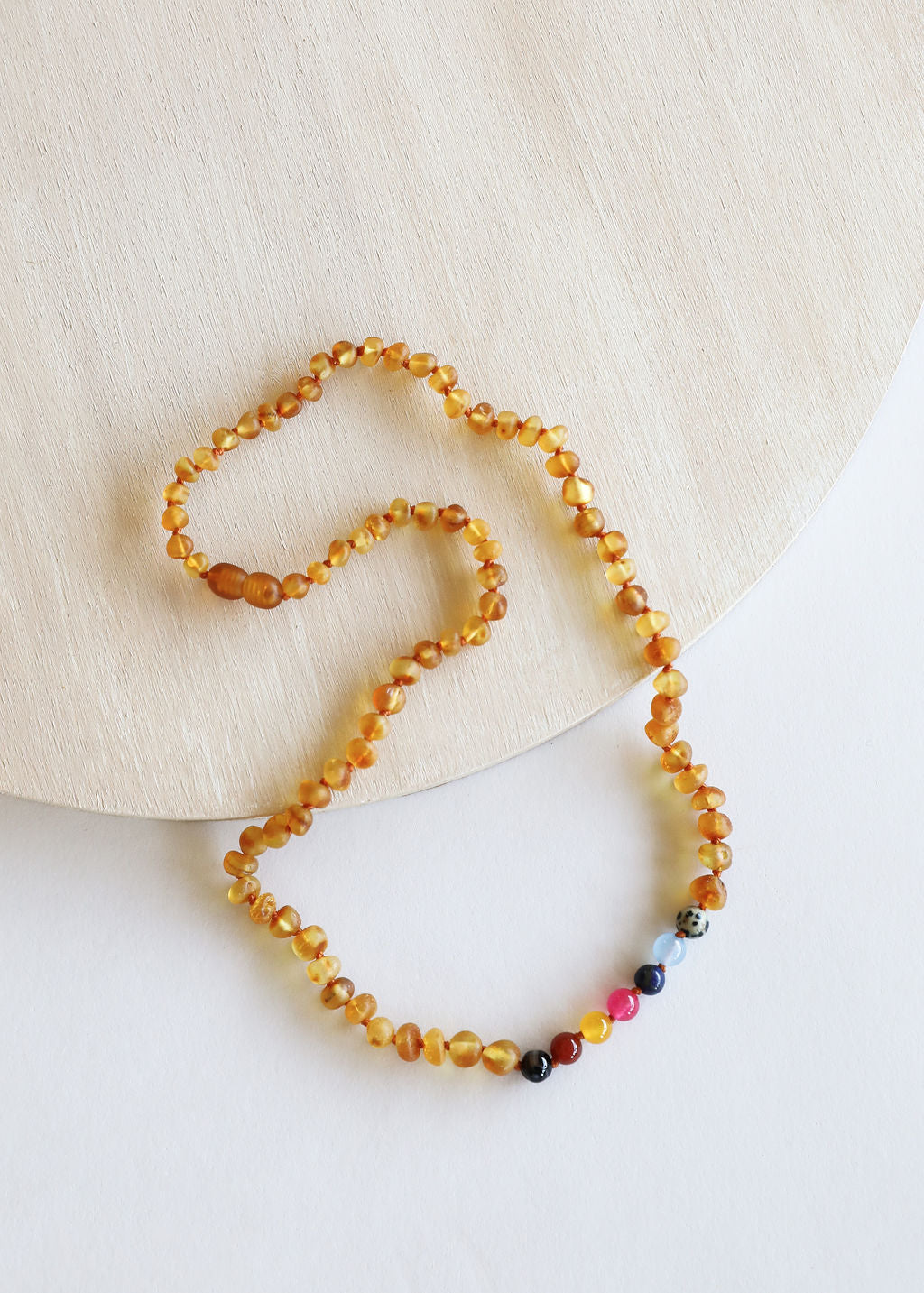 Raw Honey Amber + Vintage Style Necklace