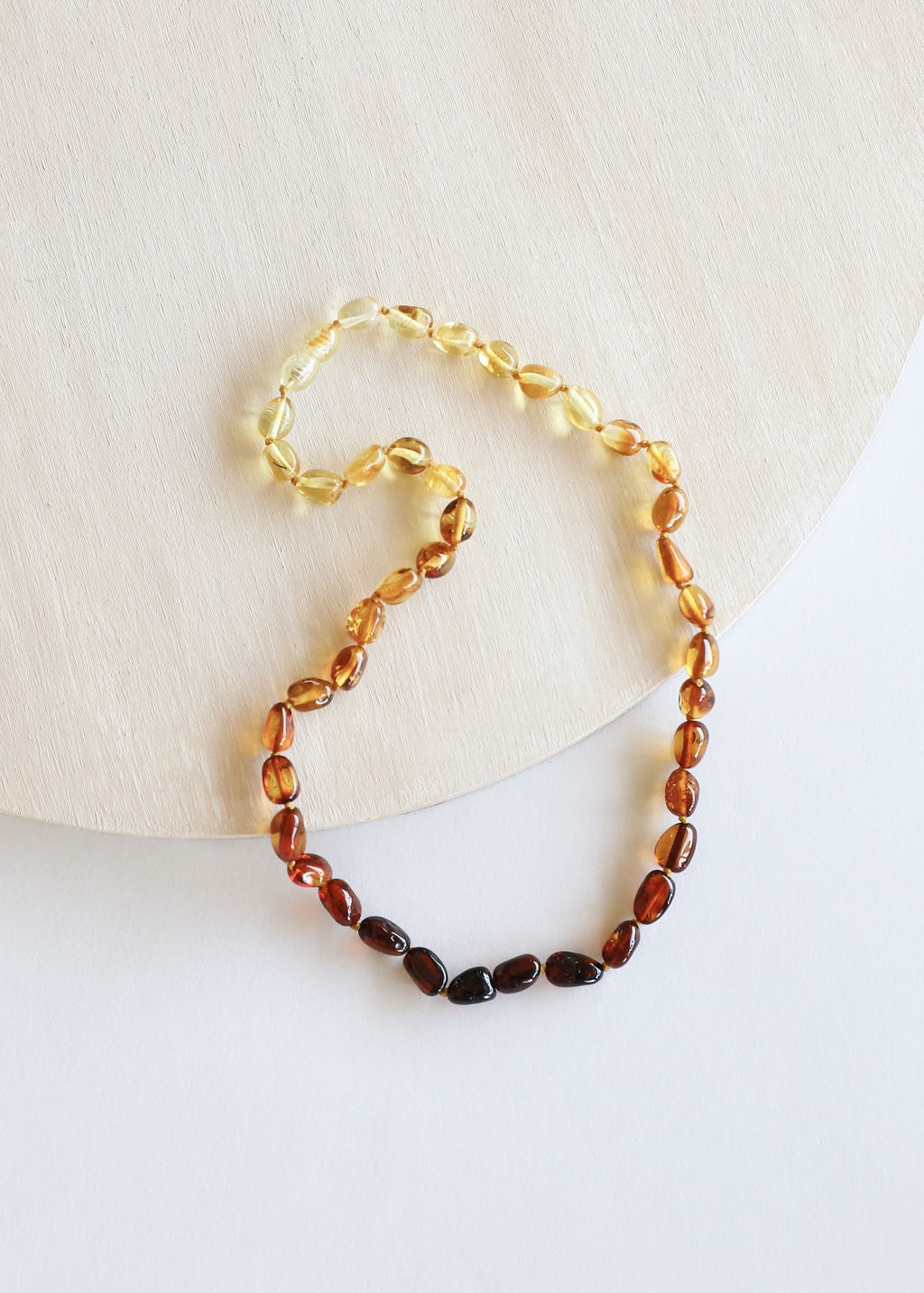 Polished Ombre Amber Necklace