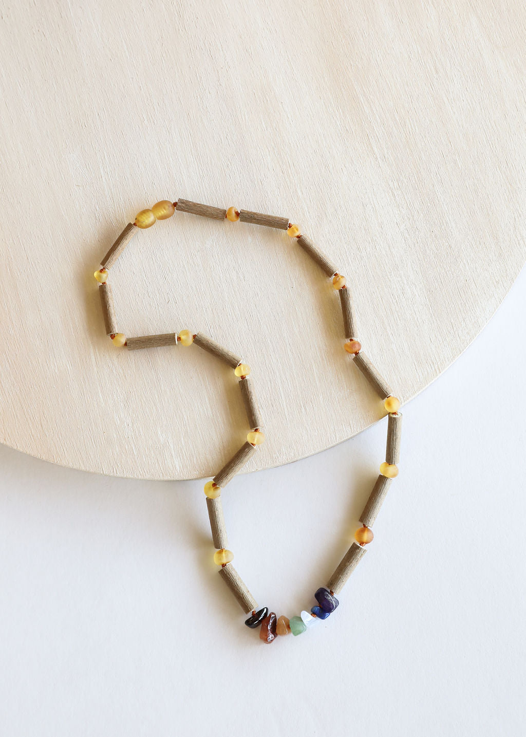 Hazelwood + Raw Chakra Crystal Necklace