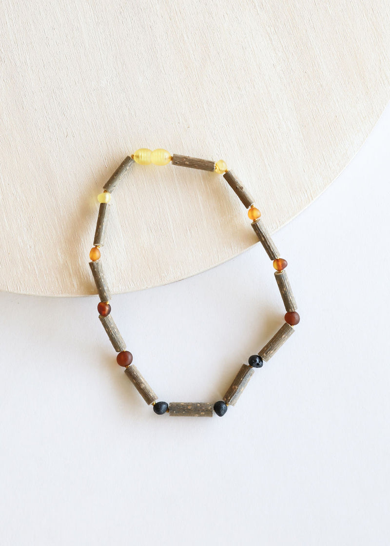 Hazelwood + Raw Ombre Amber Necklace