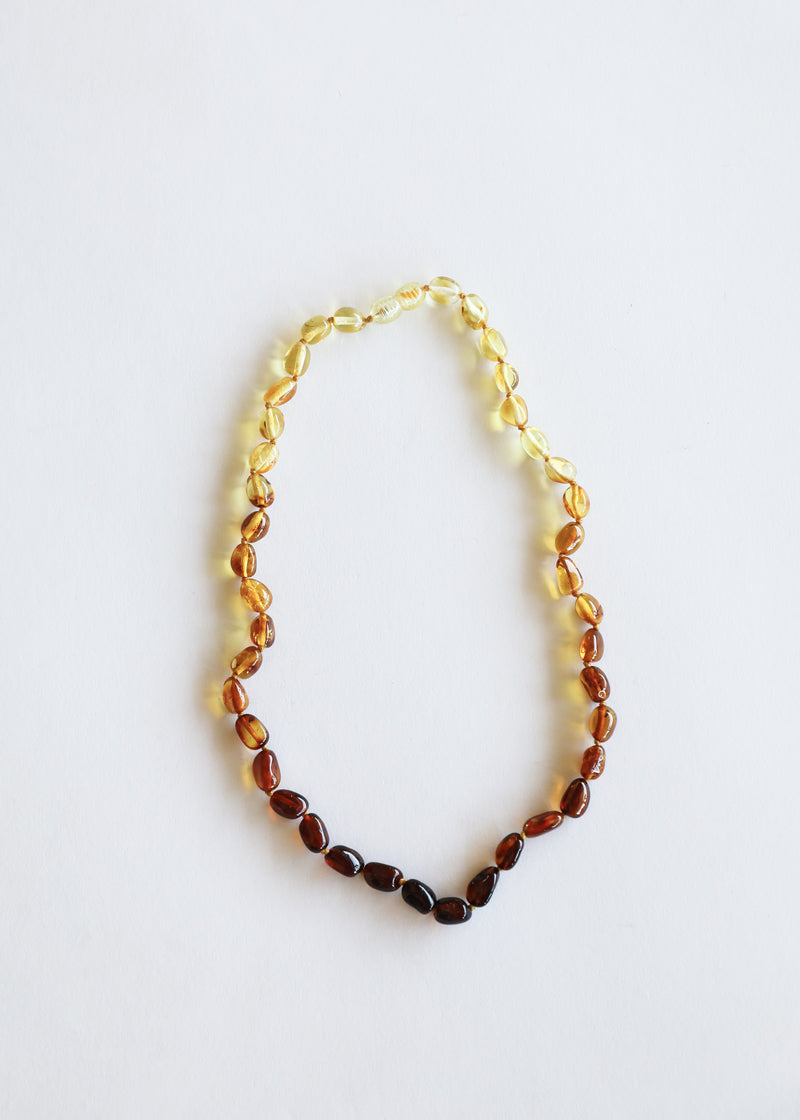 Kids: Polished Ombre Amber Necklace