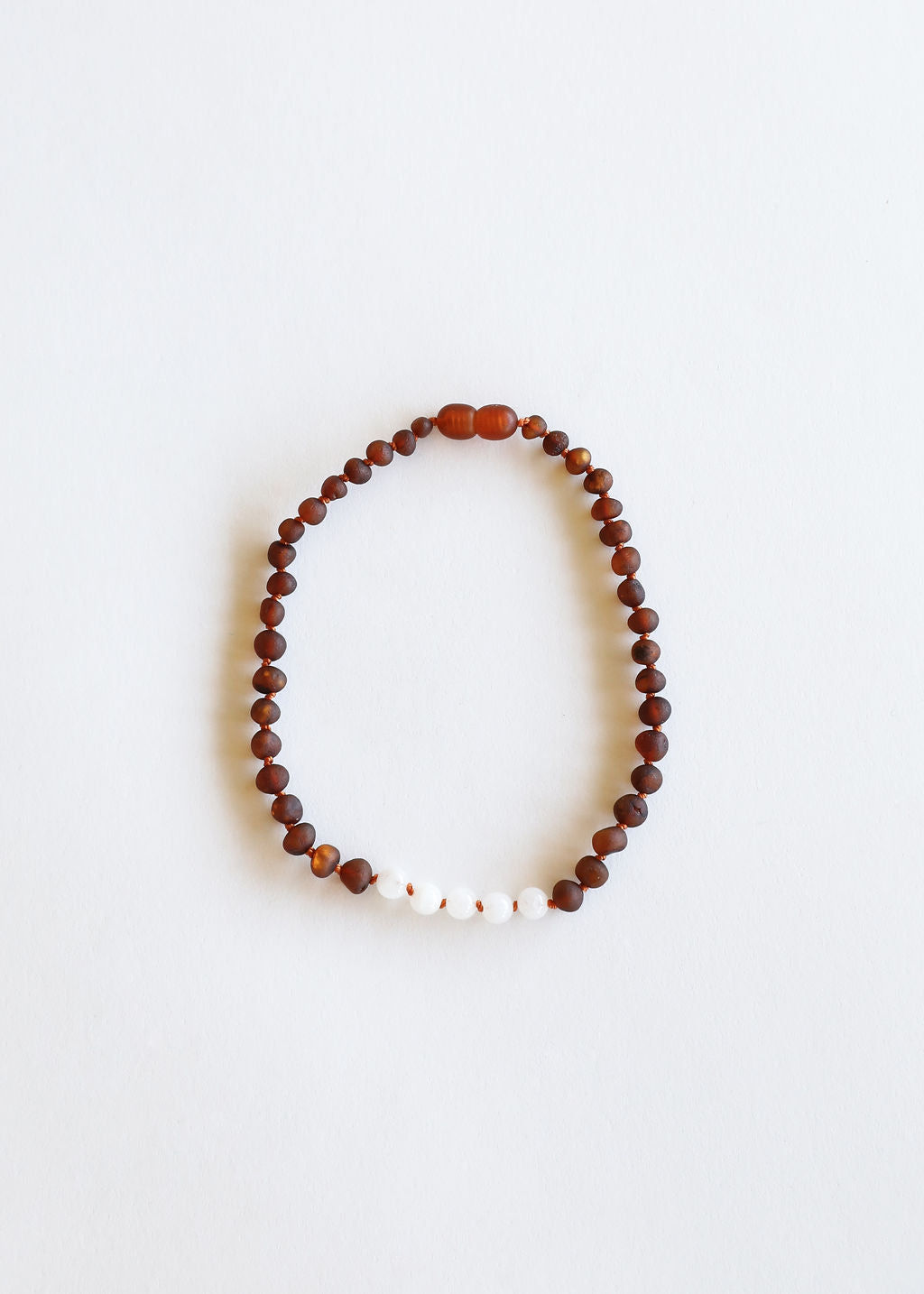 Raw Cognac Amber + Moonstone