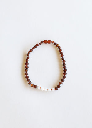 Raw Cognac Amber + Moonstone || Mommy & Me || Necklaces