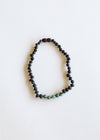 Raw Black Amber + Turquoise Jasper Necklace