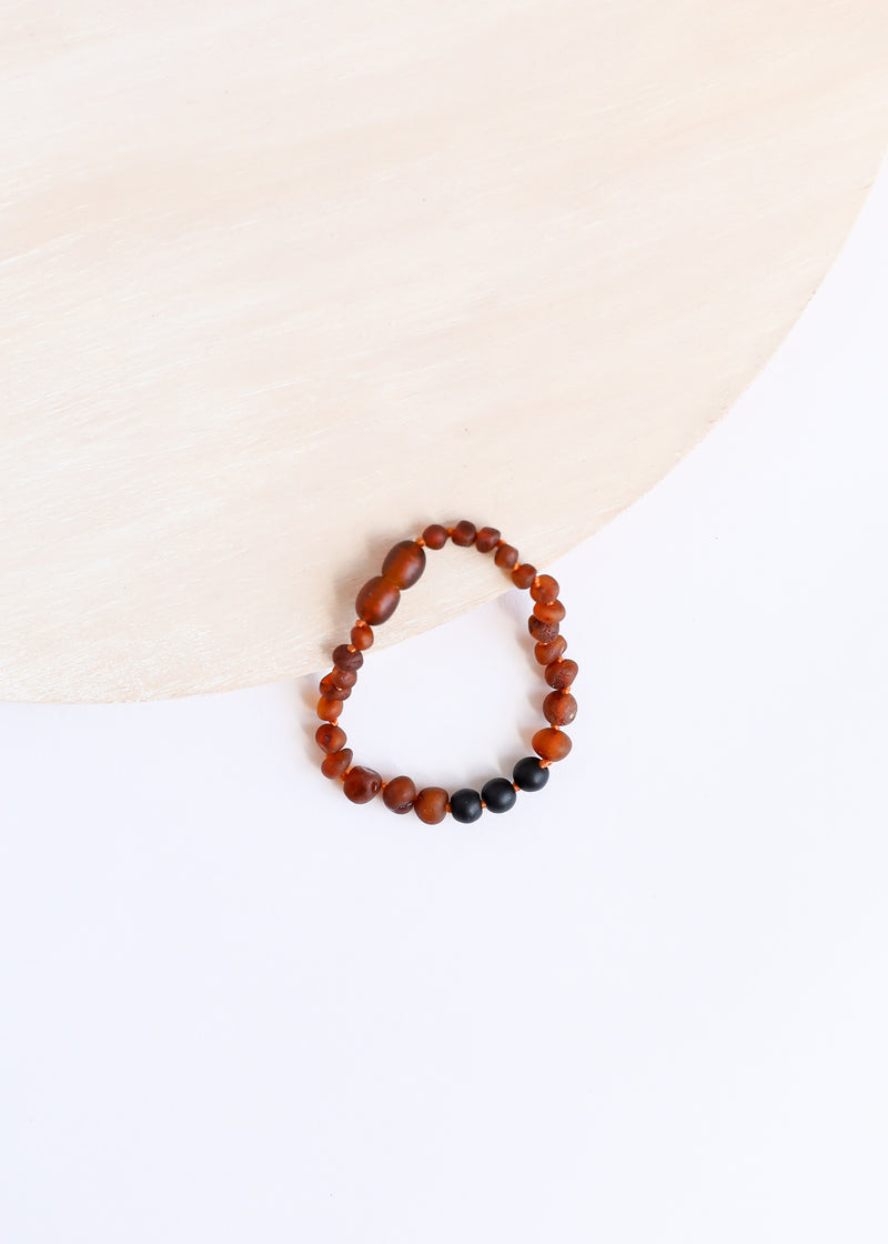 Raw Cognac Amber + Shungite || Kids