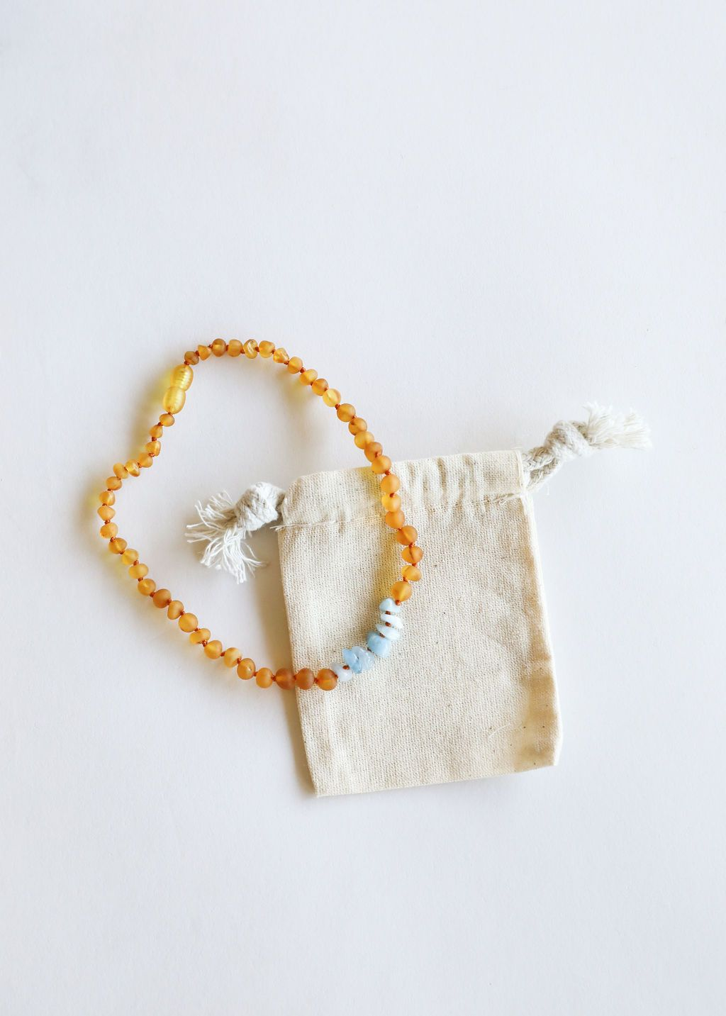 Raw Honey Amber + Raw Amazonite || Mommy & Me || Necklaces