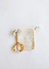 Kids: Raw Honey Amber + Rose Quartz || Necklace