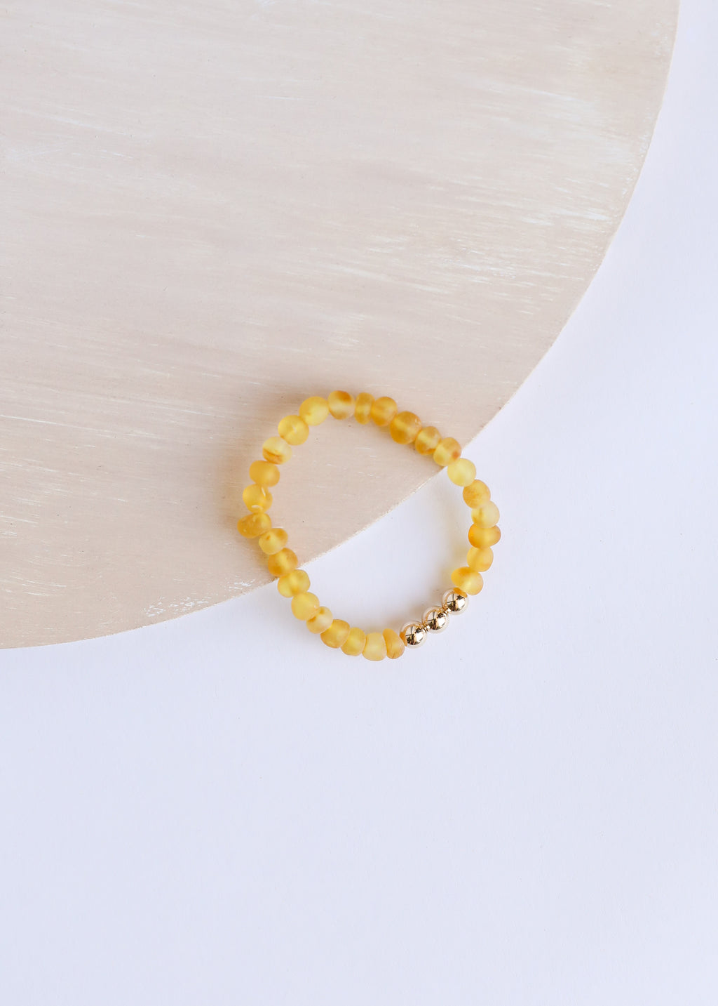 Raw Honey Amber + 14k Gold || Adult Bracelet