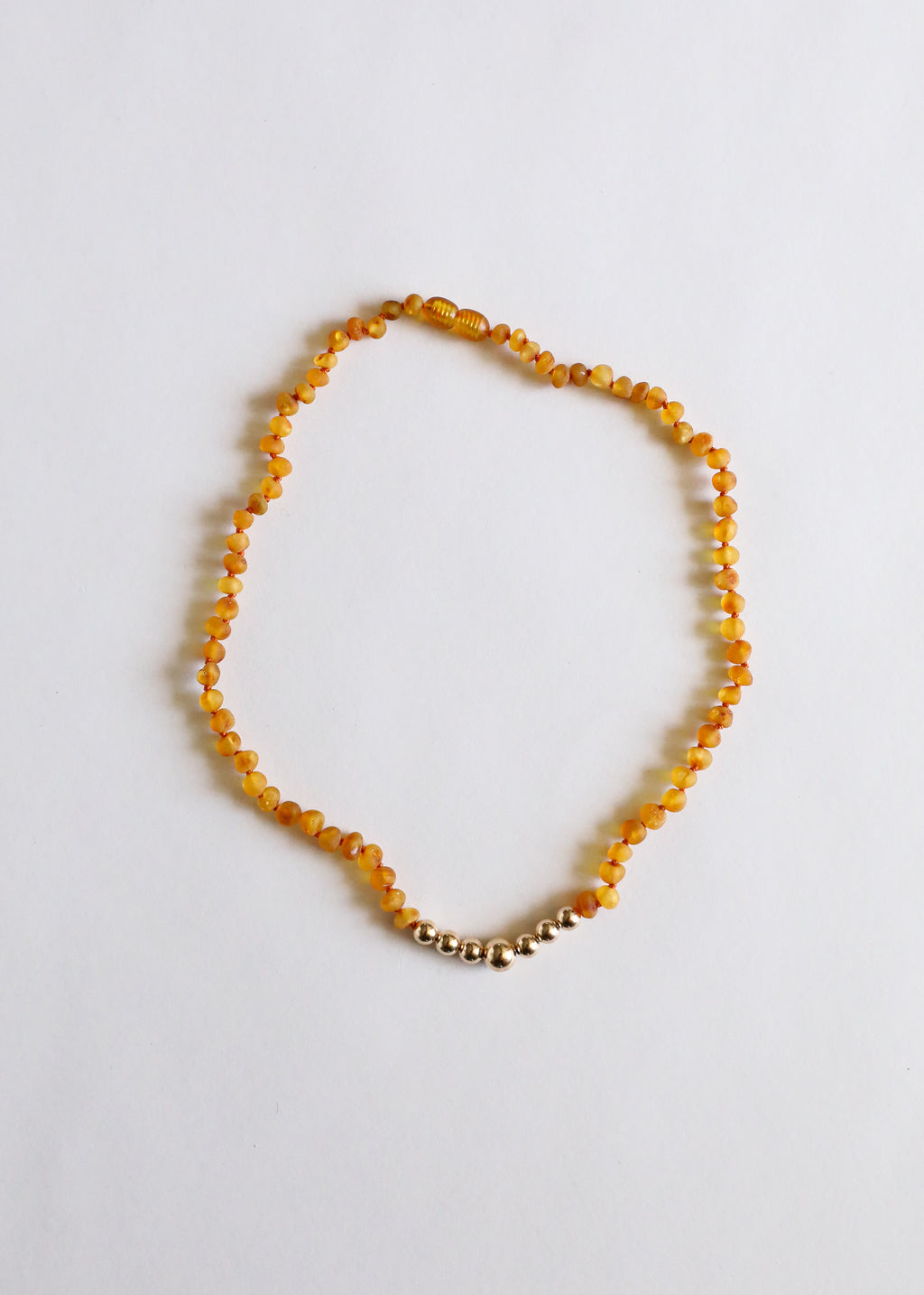Raw Honey Amber + 14k Gold || Adult Necklace