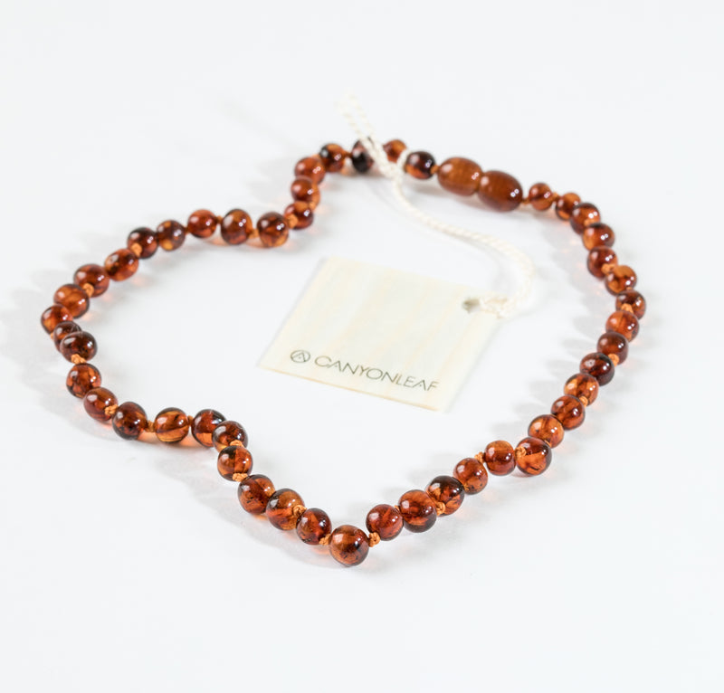 Kids: Polished Baltic Amber Necklace