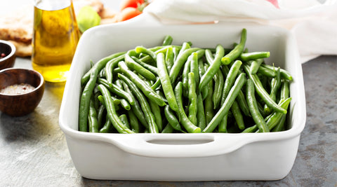 Green Bean Salad with Caramelized Onion Dressing