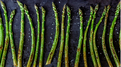 Grilled Asparagus and Barley Salad