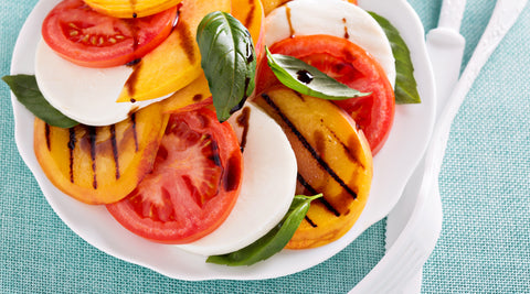 Grilled Peachy Tomato Caprese