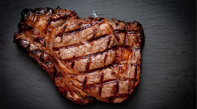 Grilled Rib Eye with Caramelized Onion Balsamic