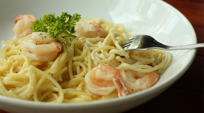 Shrimp Carbonara Arrabbiata