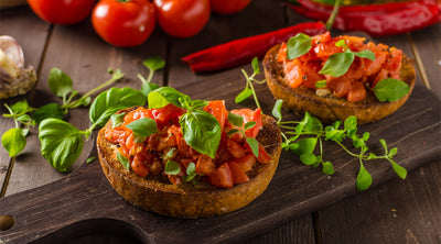 Tomato & Bacon Crostini