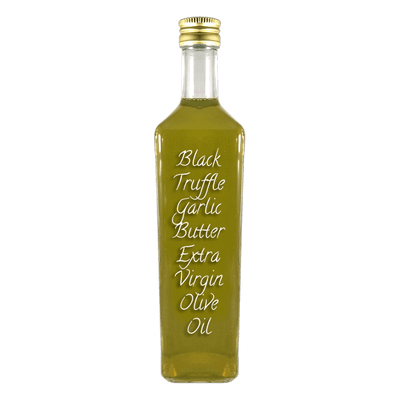 Black Truffle Garlic Butter Extra Virgin Olive Oil large bottle