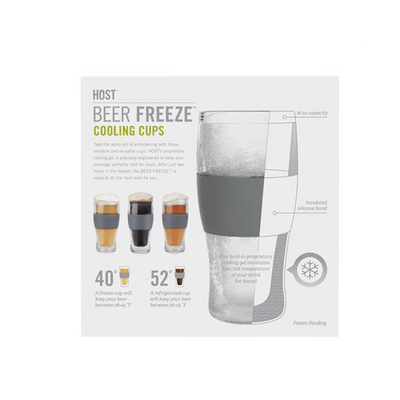 Beer Freeze Cooling Cup Back