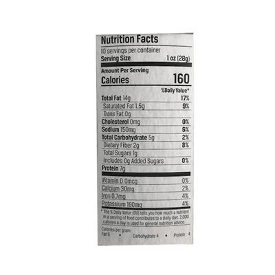 Belmont Pineapple Chipotle Peanut Nutrition Facts