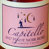 Capitello Rose of Pinot Noir label