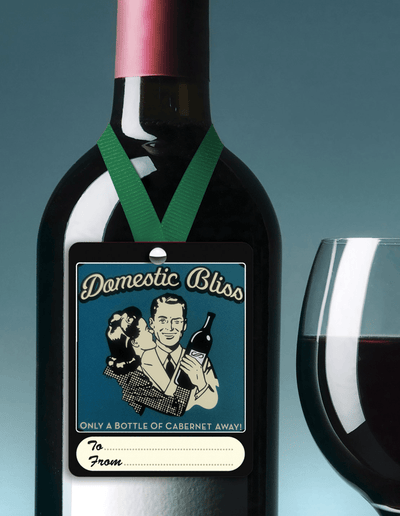 domestic bliss wine tag