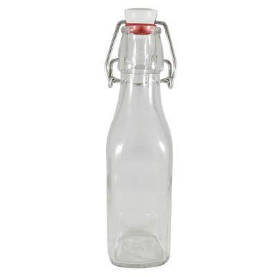 flip top bottle clear