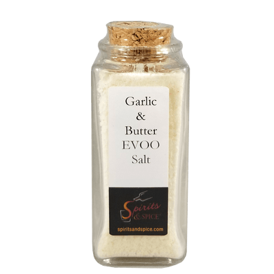 Garlic & Butter EVOO Salt bottle