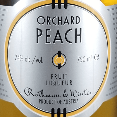 Orchard Peach Liqueur label