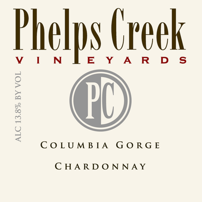Phelps Creek Chardonnay label