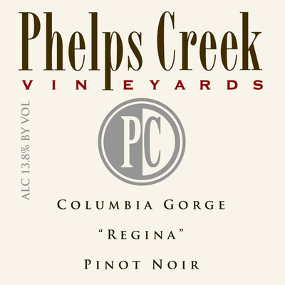 Phelps Creek Pinot Noir Columbia Gorge label