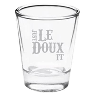 Just LeDoux It Shot Glass front