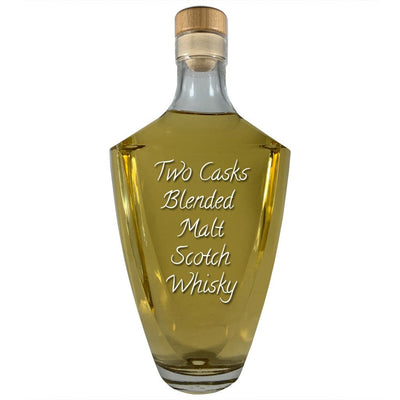Two Casks Blended Malt Scotch Whisky 750 ml Roman bottle