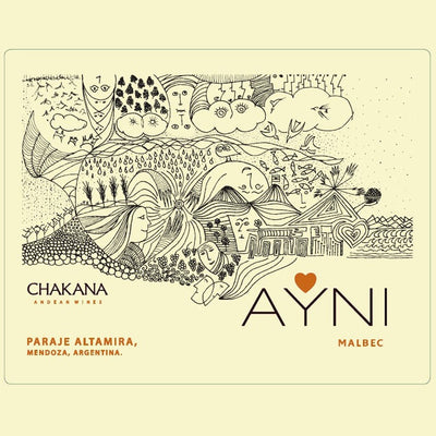Ayni Malbec label