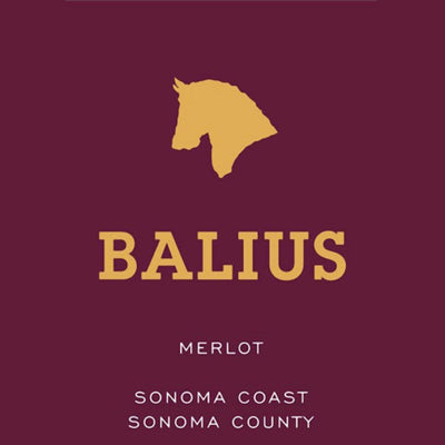 Balius Merlot label