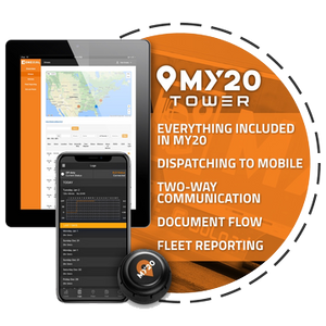 My20 ELD Tower contains everything fleet managers need to meet FMCSA electronic logging device compliance plus more.