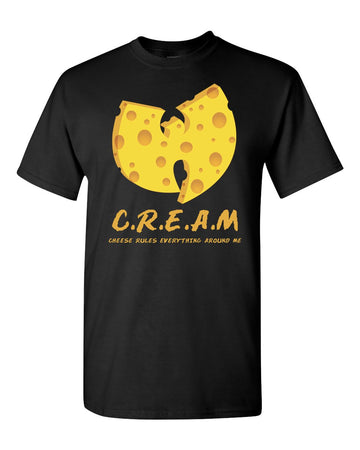 C.R.E.A.M. Cheese, Rules, Everything, Around, Me Wu-tang Parody Graphic T Shirt