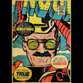 Stan Lee Iron Man Comic Book Cover Graphic T Shirt