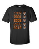Tiger 5 Time Master Championships Tiger Head Graphic T Shirt