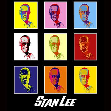 Stan Lee Andy Warhol Memorial Graphic T Shirt