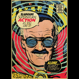 Stan Lee Doctor Strange Comic Book Cover Graphic T Shirt