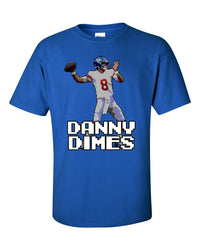 Danny Dimes Tecmo Bowl Daniel Jones Graphic T Shirt, Daniel Jones New York Giants Parody T Shirt