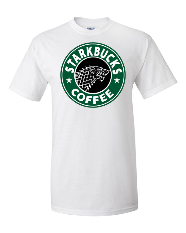 Starkbucks Game of Thrones Starbucks T Shirt Parody